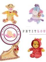 Idée cadeau Winnie l'ourson : peluche, coffret de naissance et vêtements