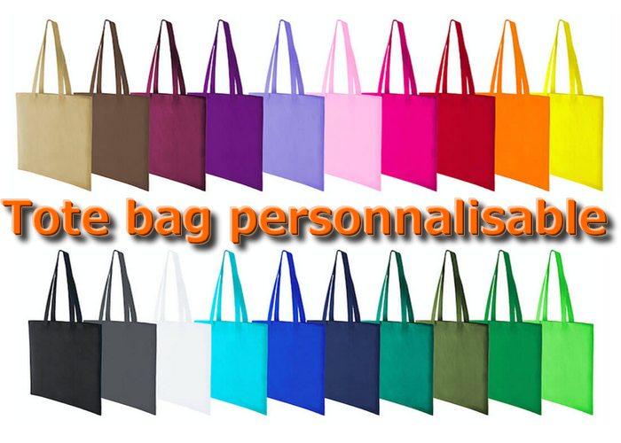 tote bag personnalisé de toutes couleurs