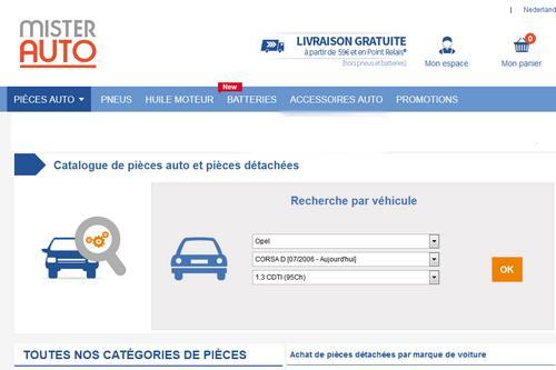 pièces de voiture à prix discount